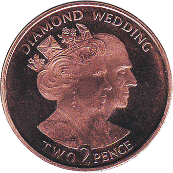 2 Пенси (Pence) - 2007 - Гібралтар - Diamond Wedding