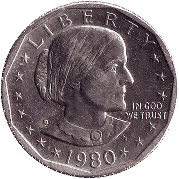 "1 Долар (Dollar) (""долар Ентоні"" – ""Susan B. Anthony dollar"") - 1980 - США"